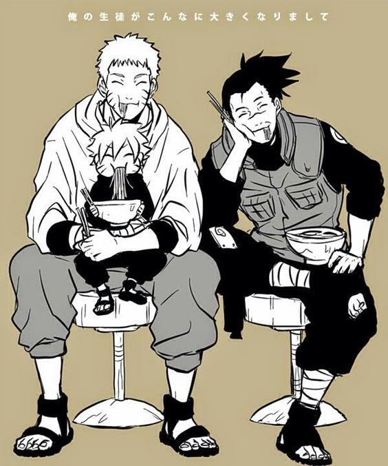 Naruto, Bolt and Iruka