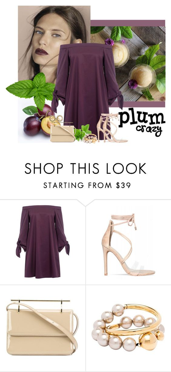 """""""Plum with Beige accessories"""" by kimzarad1 ❤ liked on Polyvore featuring TIBI, M2Malletier, Marni and Chanel"""