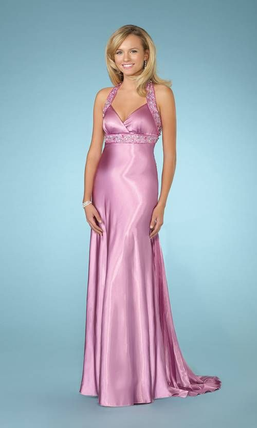 evening gowns | ... gowns for wedding, Pink Silk Evening Gown ...