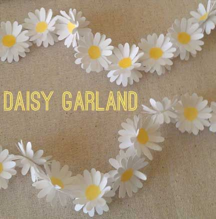 1. A garland or chain made of linked daisies. 2. A series of connected events, activities, or things, likened to a garland: