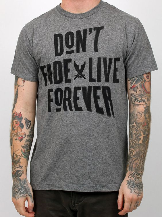 CX.City Don't Fade Live Forever Tee