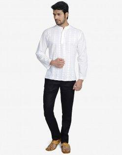 Cotton Cambric Lucknavi Super Short Kurta