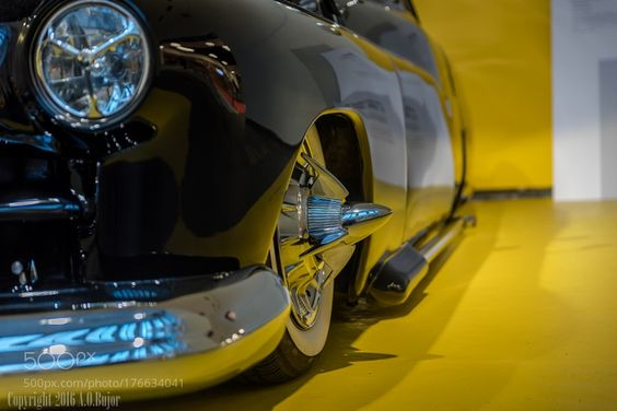 The Batmobile by OvidiuBujor with yellowcarbokehblackmirrorreflectingspecialAutomotiveAutomobile