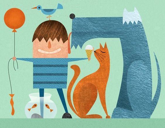 Descobrindo como os animais afetam o emocional das crianças