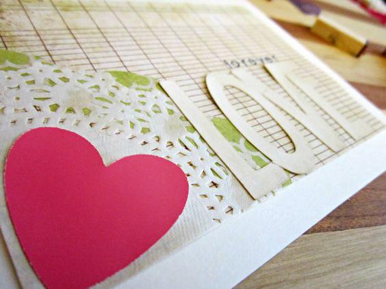 Handmade Greeting Card forever LOVE Wedding Card by shellsmark