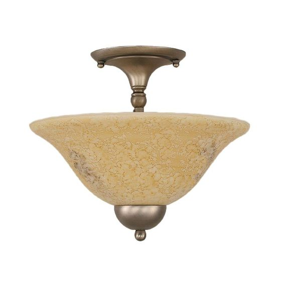 Filament Design Concord 2-Light Brushed Nickel Ceiling Semi-Flush Mount Light