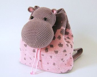 Crochet pattern for giraffe backpack. Cute and от chabepatterns