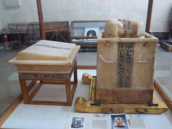 El cofre de las visceras de Tutankamon, #visita #mueo_egipcio #cairo
