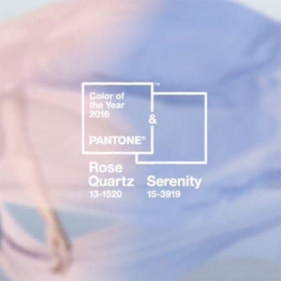 Rose Quartz et Bleu Serenity : les couleurs Pantone 2016 !  Pantone ...