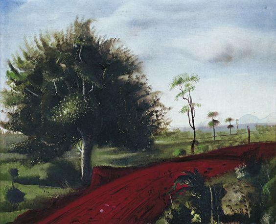 Paisagem de Brodowski, s/d Cândido Portinari ( Brasil, 1903-1962) óleo sobre madeira Coleçãos Particular
