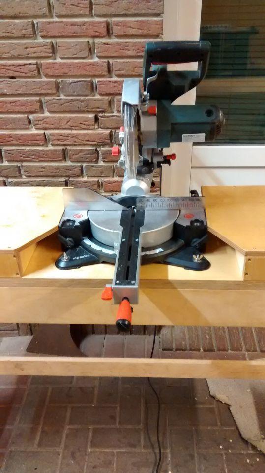 Tisch Fur Meine Kappsage Bauanleitung Zum Selberbauen 1 2 Do Com Deine Heimwerker Community Coole Holzarbeitprojekte Aufbewahrung Werkstatt Heimwerken