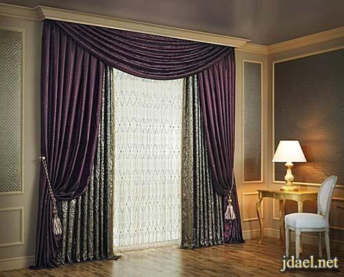 صور ستائر جديده فخمه غرف استقبال ومعيشه وصالات Home Decor Home Curtains