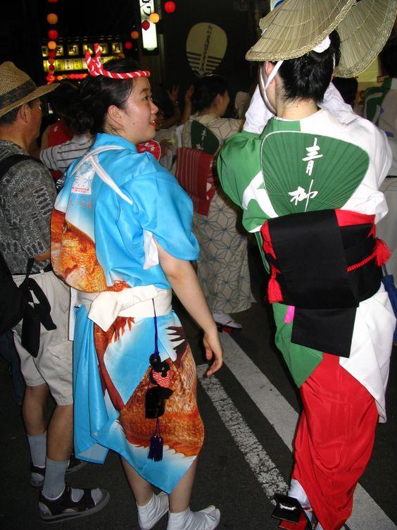 awa odori oban matsuri tokushima shikoku 2006 japan awa dance natsu cooking school group university