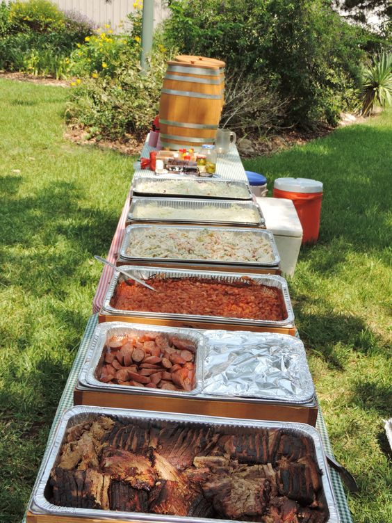 Labor Day Back Yard BBQ time! Brisket, sausage, cowboy beans, potato salad, pasta salad, coleslaw, and peach tea. This could be your lunch! Learn More about George Ranch Historical Park's Historic Foodways here: http://www.georgeranch.org/programs-events/historic-food-program/