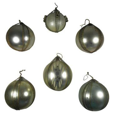 Check out this item at One Kings Lane! Wire-Wrapped Ornaments, Set of 6