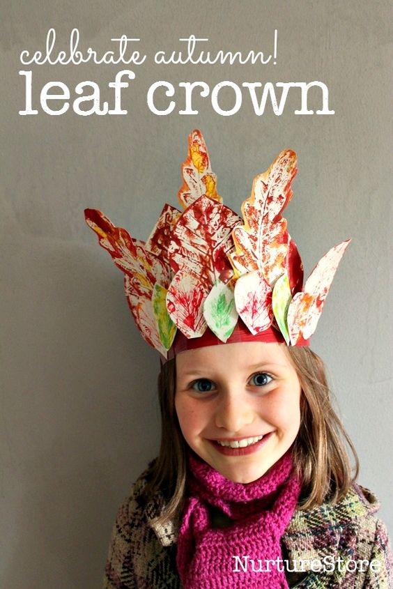 Celebrate autumn with this leaf crown - gorgeous preschool autumn craft for kids