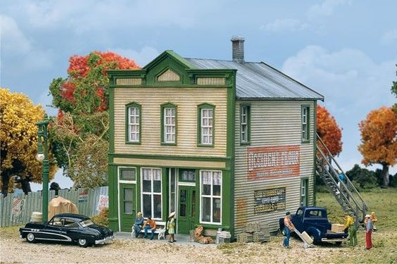 Walthers Cornerstone HO 933-3650 River Road Mercantile Kit