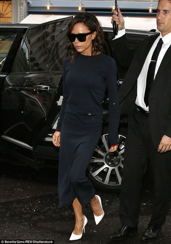 Victoria Beckham back in stilettos as she steps out in London after NYFW success | Daily Mail Online