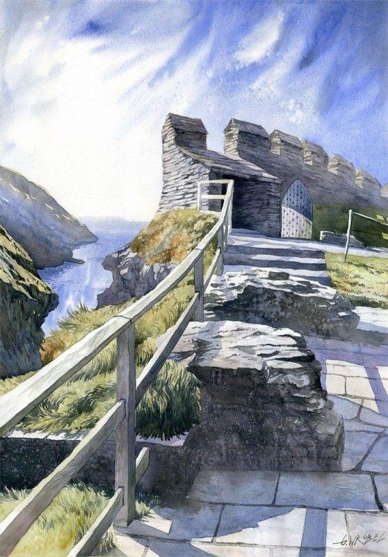 Gorska Rudera (Grzegorz Wróbel) GreeGW – Klify – watercolor