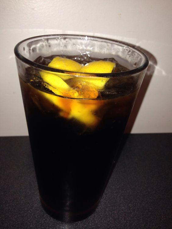 Root-Beer with Lemon Wedge, Beverage