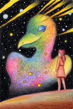 Fairy tale illustration - Bird nebula