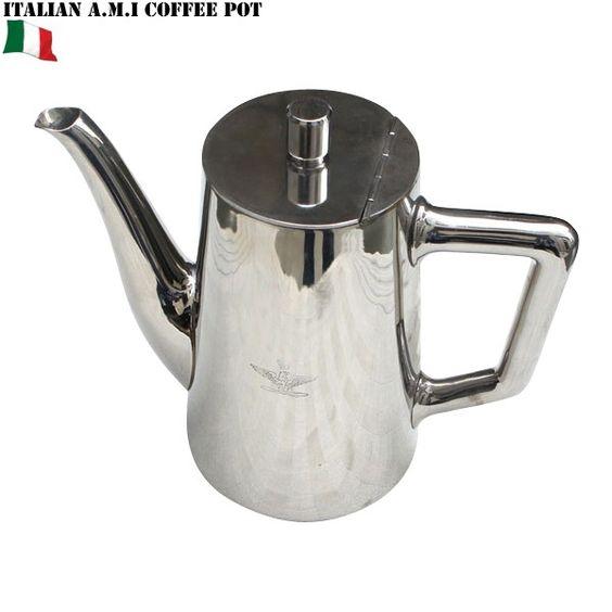 ミリタリーアイテム 実物 新品 イタリア軍 A.M.I. コーヒーポット