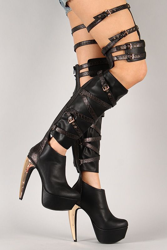 Privileged Siri Snake Gladiator Thigh High Boot - Actually just ...
