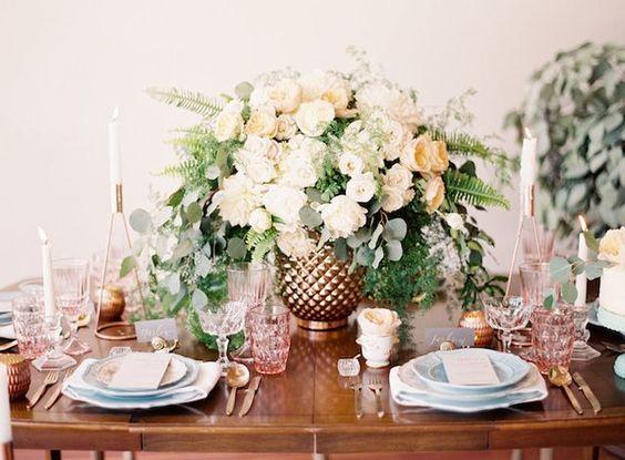 Glam Rose Gold California Wedding