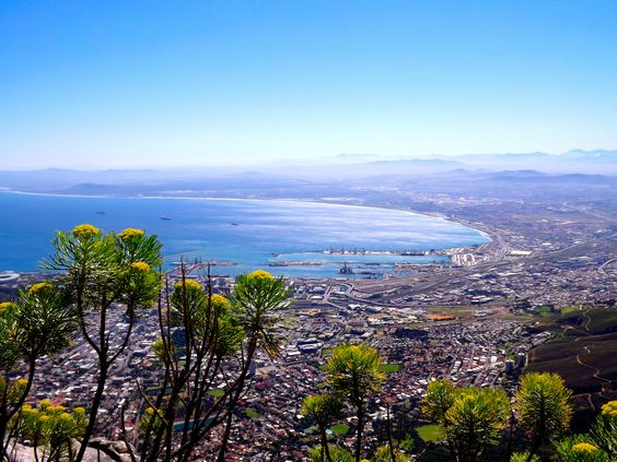 Breath-taking view of Cape Town from Table Mountain. Picture by Angel :)