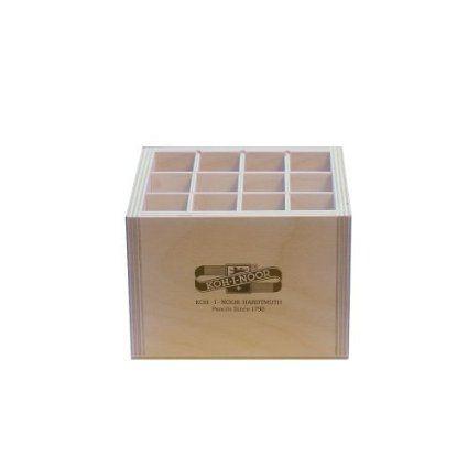 Holzbox QUADRATISCH für Stifte Pinsel Druckbleistifte, etc.. Koh-I-Noor Stiftebox Aufbewahrungsbox Pinselbox Stifteköcher: Amazon.de: Spielzeug