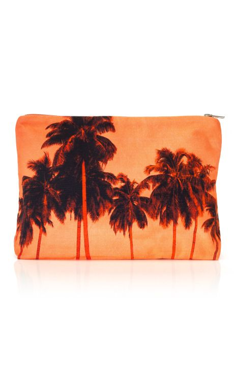 Sara Beltran: Flamingo Palms Clutch