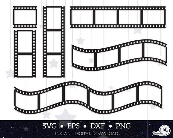 Negative Film Strips Vector Set Instant Digital Download Etsy In 2021 Film Strip Digital Download Etsy Digital