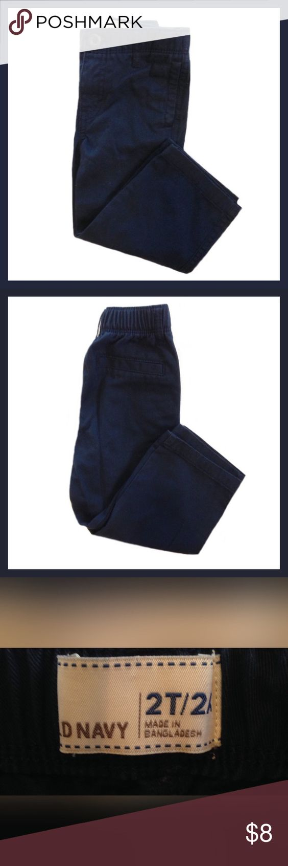 OLD NAVY Toddler Boy Twill Khakis Gently used OLD NAVY toddler boy twill khakis; Color is ink blue; Size 2T.  ******BUNDLE AND SAVE ****** Old Navy Bottoms Casual