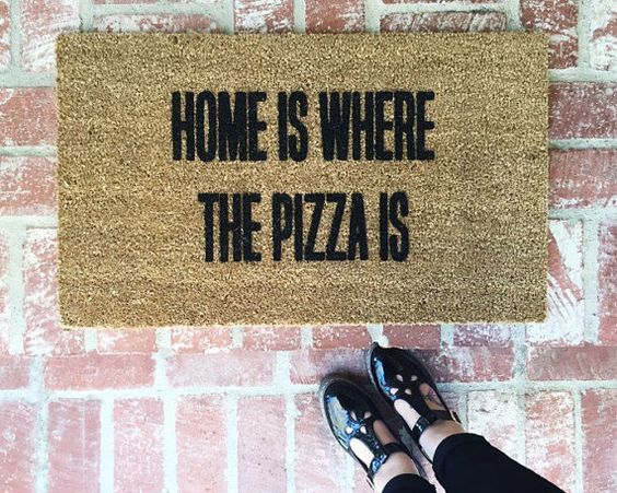 ***This item was featured on BUZZFEED on 10/19/2015***  Pizza is LIFE!!!! Who wouldnt want this pizza mat? This makes the perfect gift for all you