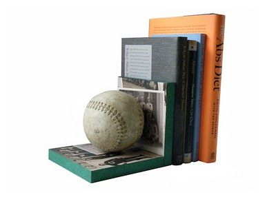 DYI baseball bookends: Baseball Bookends, Boys Bedrooms, Crafts Gift Ideas, Boys Gifts, Kids Room, Bookends Man, Boys Room, Bookend Ideas