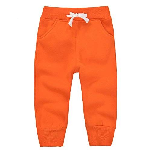 Cute On Unisex Kids Elastic Waist Cotton Warm Trousers Baby Pants Bottoms 1-5Years