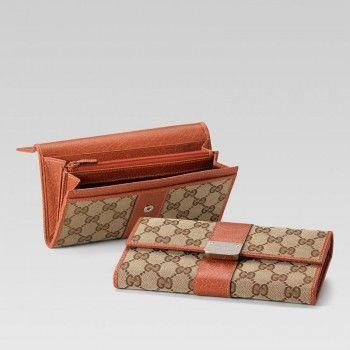 233028 Fwhcn 8396 Continental Geldb?rse mit eingraviertem Gucci-Logo und St Gucci Damen Portemonnaie