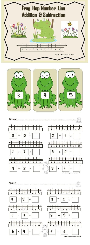 math worksheet : number line addition  subtraction frog hop k oa 2  1 oa 6  : Subtracting Integers On A Number Line Worksheet