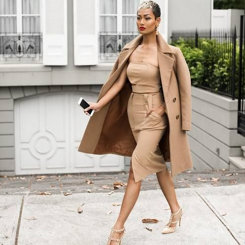 All Camel And Nude Heels Outfit | High Fashion (Sexy) | Pinterest ...