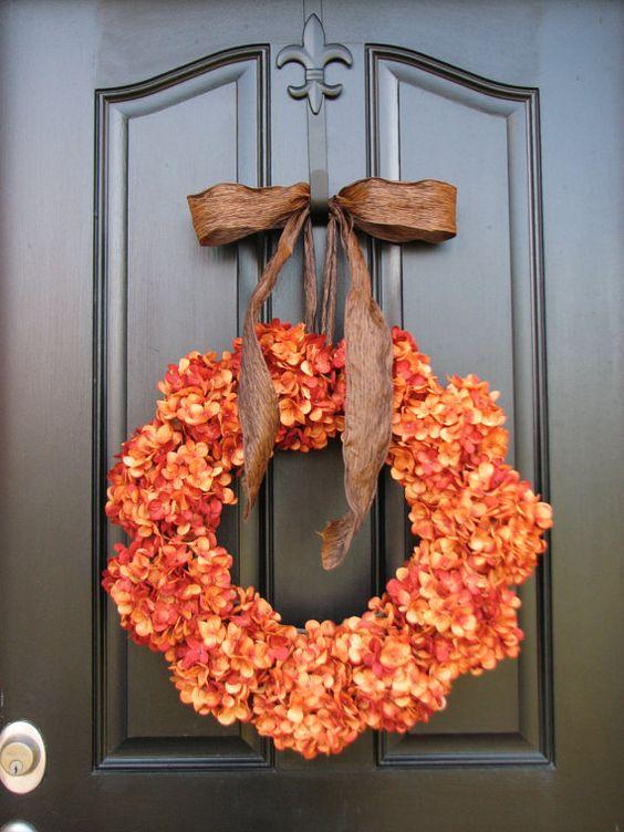 rustic door decor pumpkin berry wreath fall wreath pip berry wreath primitive wreath country wreaths thanksgiving front door pinterest berry