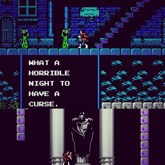 On instagram by uncannykarloff #nes #microhobbit (o) http://ift.tt/1NIIpZr II: SIMON'S QUEST (1987) #horror #action #videogames #platform #adventure #quest #dracula #curse  #retro #classic #nintendo #vampire