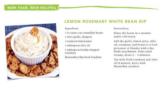 Lemon Rosemary White Bean Dip courtesy of @NatureBox