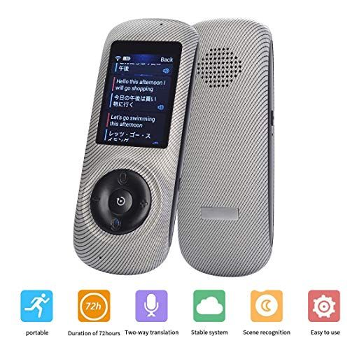 Smart Voice Language Translator Device,Real-time Two-Way Speech//Text WiFi/&4G 2.4 inch IPS Touch Screen Support 38 Languages for Learning Travel Business Shopping Etc(White)
