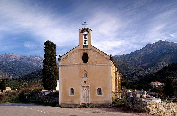 Région de Ponte-Leccia - Pietralba Chapelle Santa Maria pano