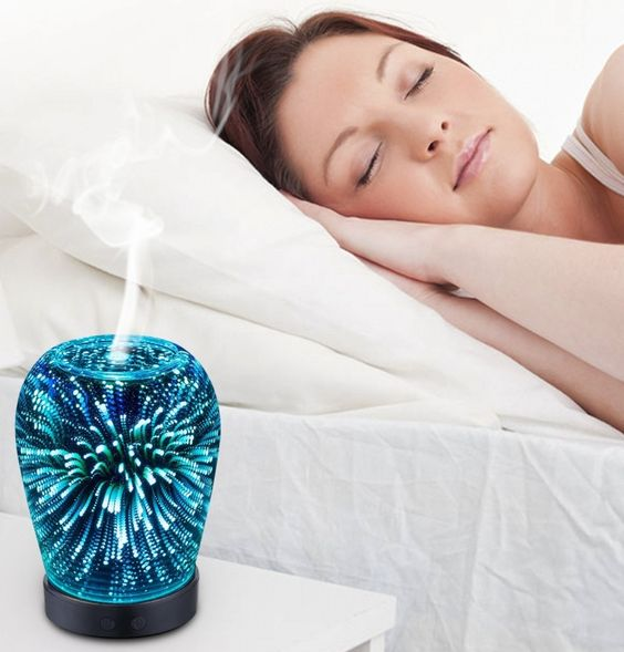 Essential Oil Ultrasonic Cool Mist Humidifier with 3D 14 Color Changing…
