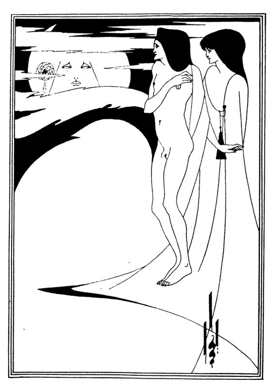Aubrey Beardsley illustration from a 1918 German Edition of Salome published by H. Böhme