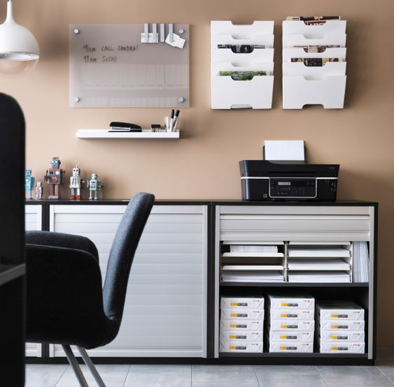 cabinets wall storage and printers on pinterest. Black Bedroom Furniture Sets. Home Design Ideas