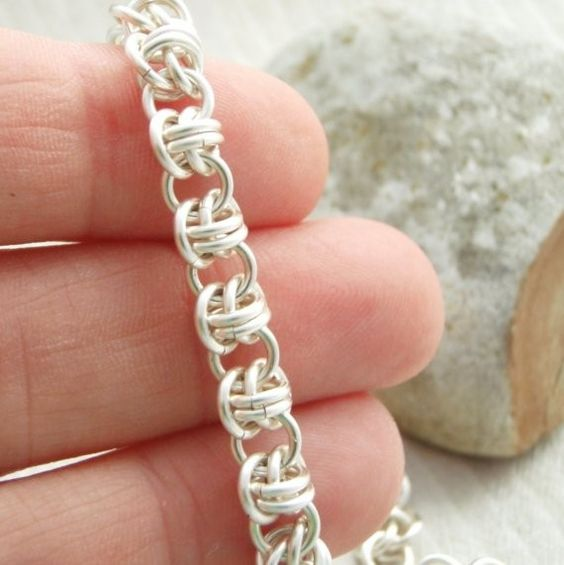 Barrel Weave Chainmaille Bracelet Kit - Perfect for Beginners But Fun for ALL - YOUR Pick of One or Two Colors