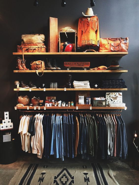 store organization. would be great for a minimalist closet.: