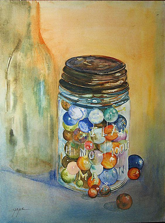 Tableau Moderne Art Contemporain Original D Coration Peinture Aquarelle Les Billes Cyane